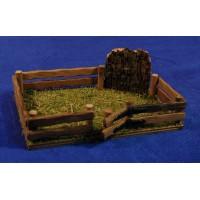 Vallado con puerta 18x12x3,5 cm madera