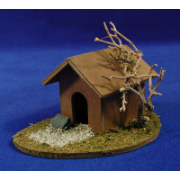 Caseta para el perro 10x13x8 cm madera