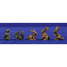 Grupo animales 8 cm resina