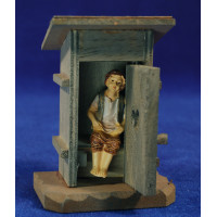 Niño caganer con lavabo 10 cm resina