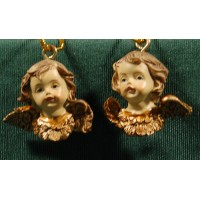 Dos bustos de ángel colgar 2 cm resina