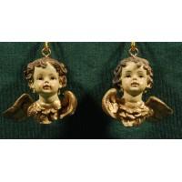 Dos bustos de ángel colgar 4 cm resina