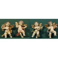 Cuatro ángeles músicos colgar 16 cm resina