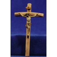 Jesús en la cruz 6 cm resina y madera