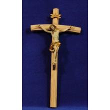 Jesús en la cruz 9 cm resina y madera