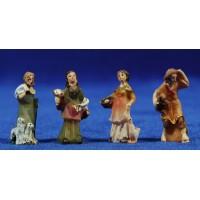 Grupo 4 pastores 3 cm resina
