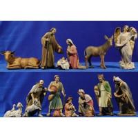 Nacimiento con reyes y pastores 20 cm resina