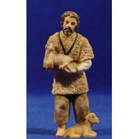 Pastora con cordero pequeño en brazos 10 cm resina