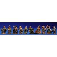 Grupo 10 pastores 3 cm resina