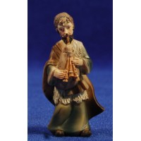 Pastor músico con gaita 7 cm resina