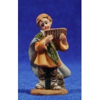 Niño pastor con flauta  7 cm resina