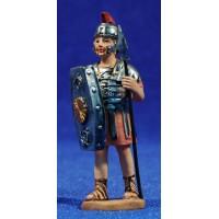 Soldado romano con lanza y escudo 7 cm resina