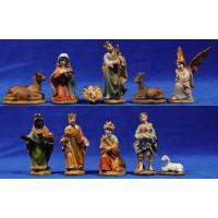 Nacimiento con reyes y pastor 7 cm resina