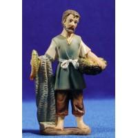 Pescador 9 cm resina