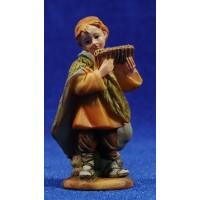 Niño pastor con flauta  9 cm resina
