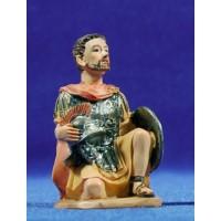 Soldado romano arrodillado 9 cm resina