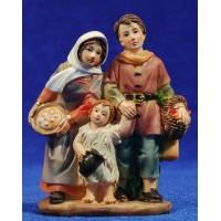 Familia con niño 9 cm resina