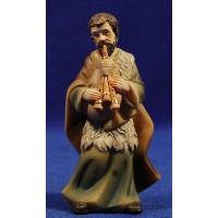 Pastor músico con gaita 11 cm resina