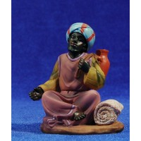 Pastor con turbante sentado 11 cm resina