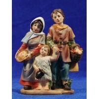 Familia con niño 11 cm resina