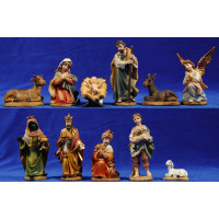 Nacimiento con reyes y pastor 11 cm resina