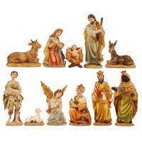 Nacimiento con reyes y pastor 15 cm resina