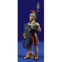Soldado romano con lanza y escudo 15 cm resina