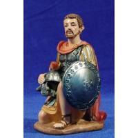Soldado romano arrodillado 15 cm resina