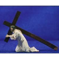 Jesús con la cruz 9 cm resina