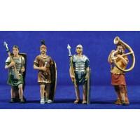Grupo 4 soldados romanos 9 cm resina