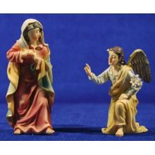 Anunciación a Maria 9 cm resina