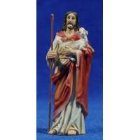 Jesús el buen pastor 9 cm resina