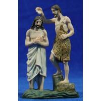 Jesús y San Juan Bautista 9 cm resina