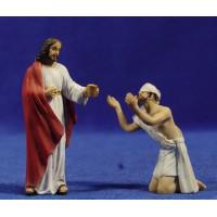 Milagro del ciego 9 cm resina