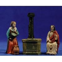 Jesús y la Samaritana 9 cm resina