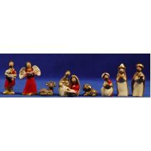 Nacimiento infantil con reyes y pastor 6 cm resina