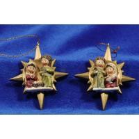 Nacimiento decoración estrella 8 cm resina