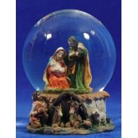 Bola de nieve nacimiento 10 cm resina y cristal