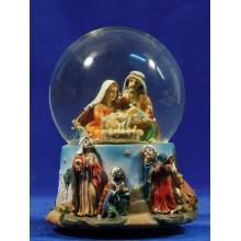 Bola de nieve nacimiento y reyes 15 cm resina e cristal