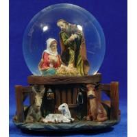 Bola de nieve nacimiento 15 cm resina e cristal