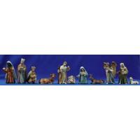 Nacimiento con reyes y pastor M3 11 cm resina