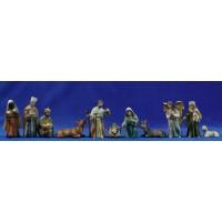Nacimiento con reyes y pastor M3 9 cm resina
