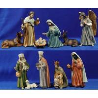 Nacimiento con reyes y pastor 24 cm resina