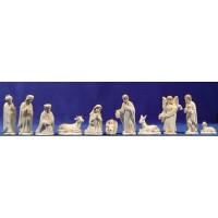 Nacimiento con reyes y pastor 11 cm resina Para Pintar