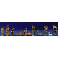 Nacimiento, reyes y pastor estilizado 6 cm resina
