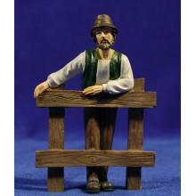 Pastor con valla 11 cm resina