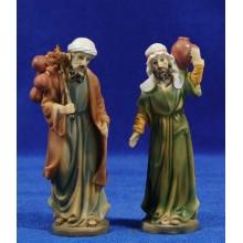 Dos pastores de camino 11 cm resina
