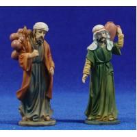 Dos pastores de camino 9 cm resina