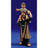 Pastor con niño al cuello 10 cm resina