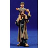 Pastor con niño al cuello 8 cm resina